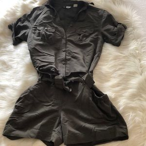 Pants - Army green jumpsuit